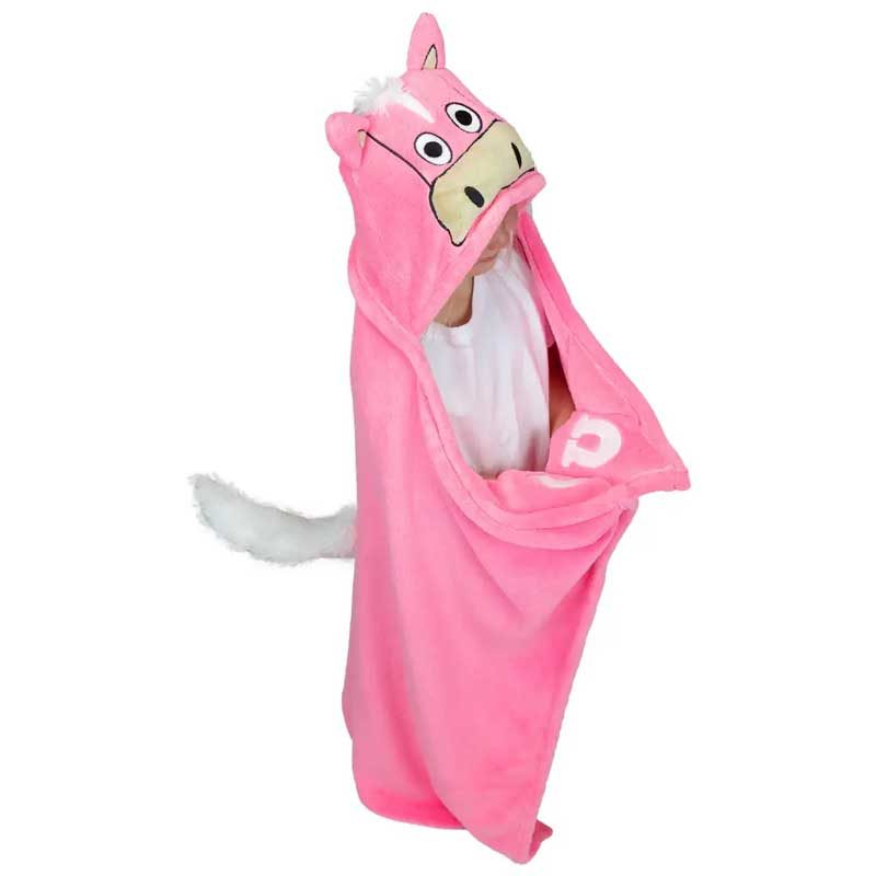 Kinder Fleece Decke rosa Pferd