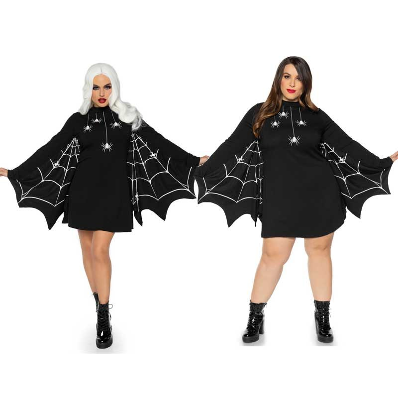 Halloween Spinnennetz-Kleid