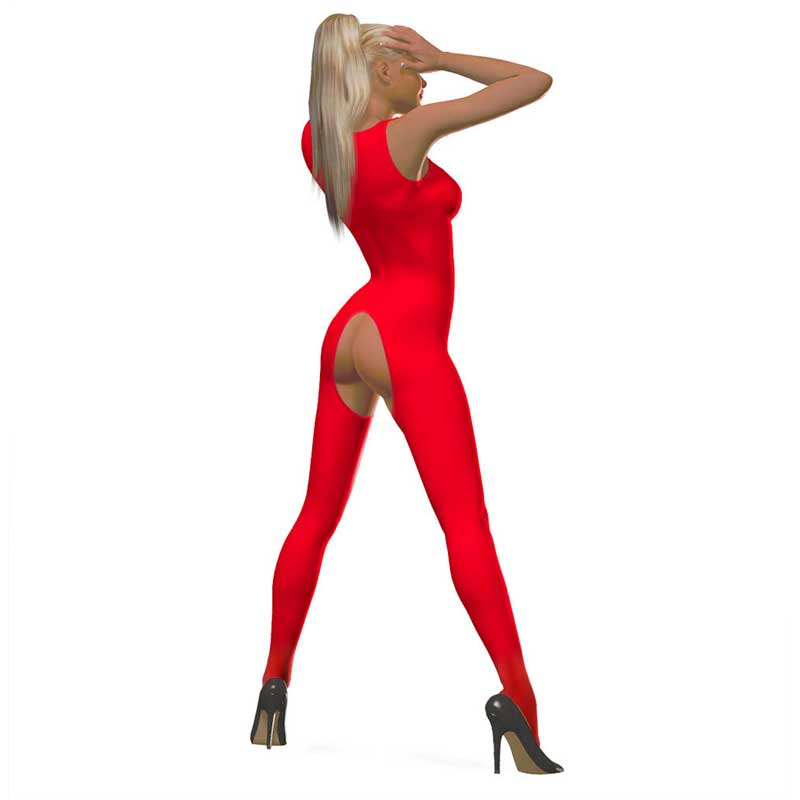 Bodystocking overt in 5 Farben, Gr. S bis Gr. 6XL
