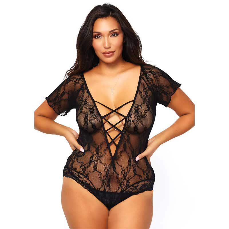 Leg Avenue Teddy-Body Plus size